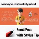 Scroll Stylus, 3 in 1 Combo, HSBANNERSTYLUS-9S